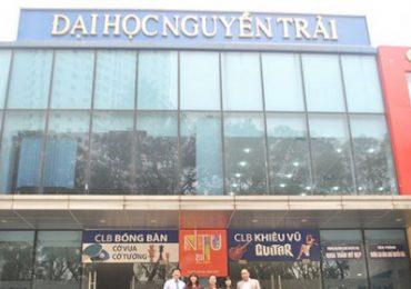 Chỉ tiêu tuyển sinh của Trường Đại học Nguyễn Trãi năm 2019