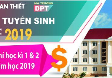 Điểm chuẩn Trường Đại học Phan Thiết năm 2018 và chỉ tiêu tuyển sinh năm 2019