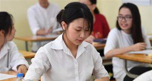 Thí sinh làm 5 bài thi trong kỳ thi THPT quốc gia 2020