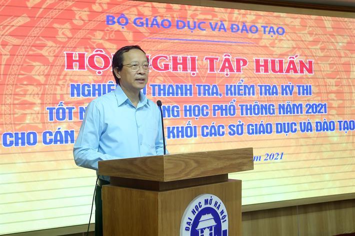 Thứ trưởng Phạm Ngọc Thưởng phát biểu chỉ đạo tại hội nghị